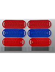 BodyRip Studio Gym Polygon Gewicht Teller Barbell Set 2,5cm Standard Bar 185kg Set