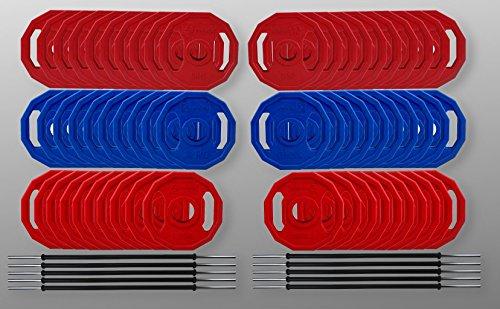 BodyRip Studio Gym Polygon Gewicht Teller Barbell Set 2,5cm Standard Bar 185kg Set (Gewicht Teller-set Standard)
