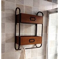 BIAN-Retrò in ferro battuto porta asciugamani rack