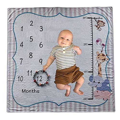 Forart Baby Meilen Stein Decke, Engel Flügel Thema Monat Decke Foto Prop personalisierte Decke Babydecke für Dusche Geschenk -