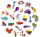 DZCYAN 50 Countries National Flag Sticker Toys for Children Soccer Football Fans Decal Sticker Scrapbooking Travel case Laptop Stickers