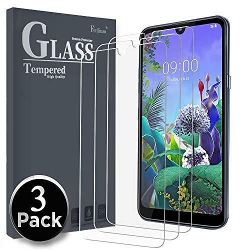 Ferilinso Panzerglas Schutzfolie Kompatibel mit LG Q60 / LG K50, [3 Pack] Gehärtetes Glas Bildschirmschutzfolie mit Lebenszeit Ersatzgarantie für LG Q60 / LG K50 Panzerglas (Transparent)