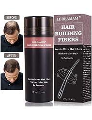 Hair Building Fibers,Hair Fibers,Hair Loss Concealer,Densificateur de cheveux,Cheveux fins et clairsemés,Zone de calvitie - Convient aux hommes et aux femmes - Noir 27.5g