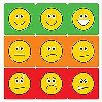12mm Mini Sheet - Emotion Stickers. 5 sheets, 585 stickers.