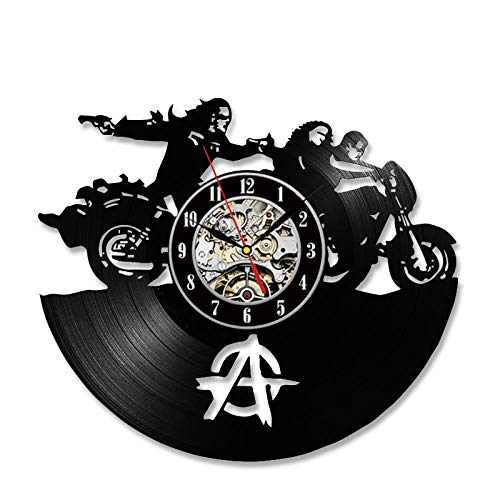 Anarchy sonVinyl Record Wall Clock Color Change Home Decoration Gift LED