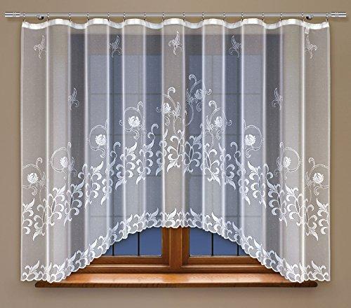 HAFT® Gardine Polyester Weiß