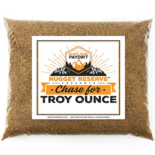 Nugget Reserve Top Secret Chase for Troy Ounce - Gold Nugget Paydirt Panning Concentrate Paybag - Gold Prospecting Empire Scoop