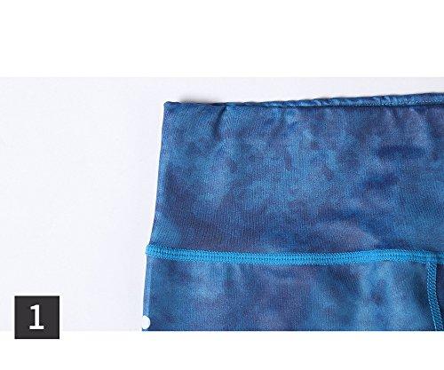 Legging de Sport Femme Pantalon Yoga à Motif Collant Pour Fitness Elastique Respirant Skinny Sechage Rapide Pilate Course HK 166