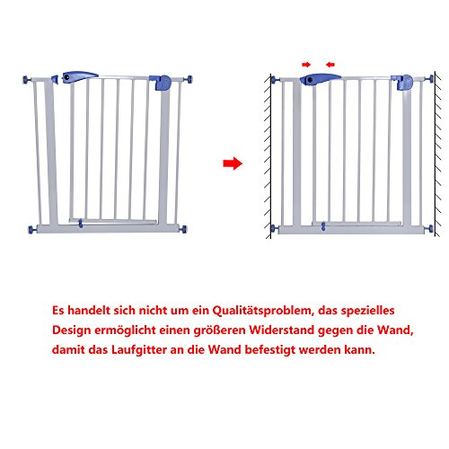 Yorbay Türschutzgitter Treppenschutzgitter 75cm-185cm Klemminstallation Ohne Bohren, 15 Varianten wählbar (95-105cm) - 6