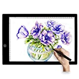 Ultra-thin A4 LED Light Box Copy Board,Drawing Display Pad Drawing Board Tracing Light Box with Brightness Adjustable for Artists and Chirldren