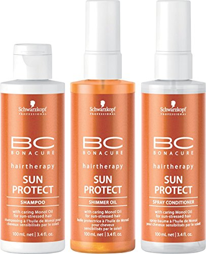 Schwarzkopf Professional BC Bonacure Sun Protect Travel Kit 3 x - Conditioner Spray Bc