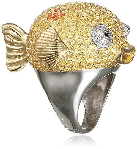 MISIS Damen-Ring deep reef 925, Silber, Vergoldet, Zirkonia mehrfarbig Gr. 60 (19.1) - AN02887-60 (Deep Reef)