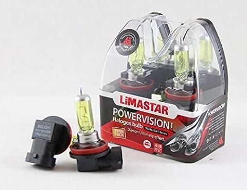 2x Halogenlampen Lampen Birne Glühbirne H11 55W Sockel PGJ19-2 YELLOW