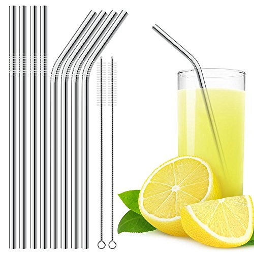 Acier-inoxydable-pailles–boire-ensemble-de-8-avec-2-brosses-de-nettoyage-DLAND-85-pouces-potable-paille-Straight-4-et-4-Bend-pour-gobelet-digne-des-Yeti-TCLE