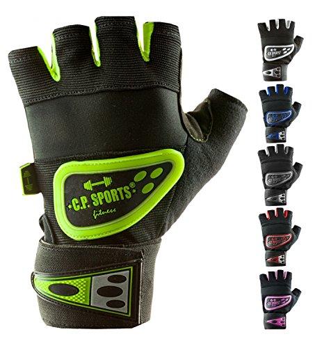 C.P. Sports Profi-Grip-Bandagen-Handschuh - farbig, bunt, verschiedene Farben, Fitness - Handschuh weiß M