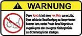 Kleinanzeigen: Honda vtec Motor German Lustig Warnung Aufkleber Decal Stick