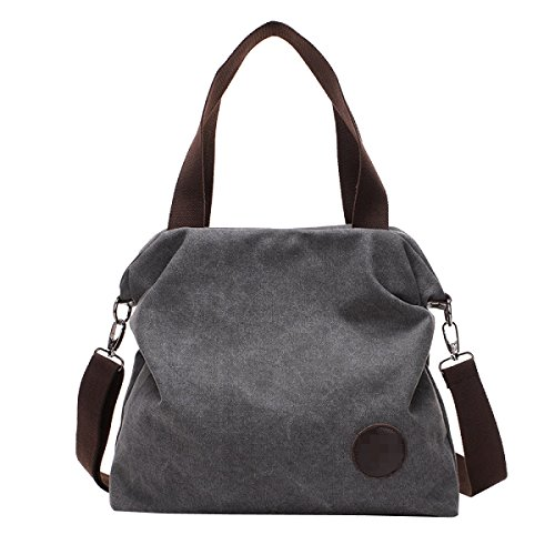 Preisvergleich Produktbild Studenten Leinwand Unvergänglich Weich Individualität Freizeit Große Kapazität Handtasche Schultasche,Grey-OneSize