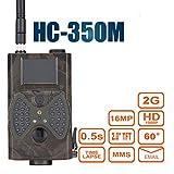 hc-350m Trail Kamera 16MP HD 1080P Infrarot-Nachtsicht Wildlife Kamera Zeitraffer 5,1cm Farbe LCD Display 2G SMS MMS SMTP Jagd Pfadfinder Überwachungskamera