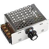DROK® Temperatura Micro CA 110V 4000W Regulador de voltaje SCR 110VAC Speed Controller Dimmer Gobernador Power Monitor Dimming monitor