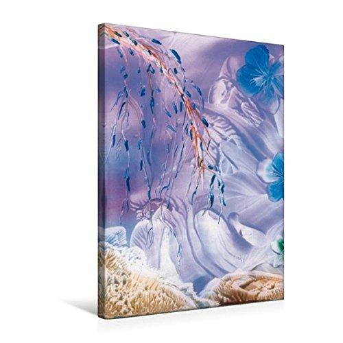 Premium Textil-Leinwand 50 cm x 75 cm hoch, Blaue Blüten | Wandbild, Bild auf Keilrahmen, Fertigbild auf echter Leinwand, Leinwanddruck (CALVENDO Kunst) (Original-gemälde Blaue)