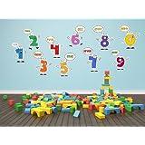Números N1054 para la Educación Art Sticker - Decoración mural gráficos de bricolaje, decoración de la pared de papel tapiz, pegatinas de vinilo, los niños decoración de la habitación