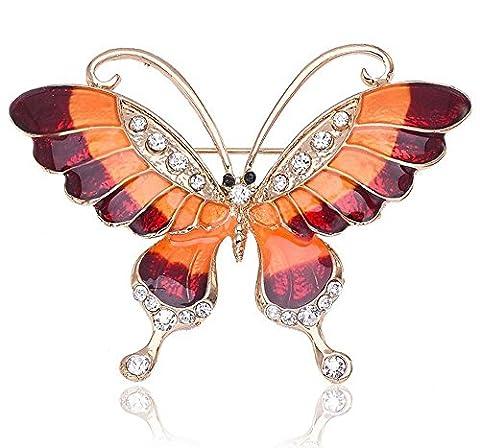 Créatif Broche en émail broche Personnalité Mignonne papillon diamant Dessin animé Broche animal Coloré , e