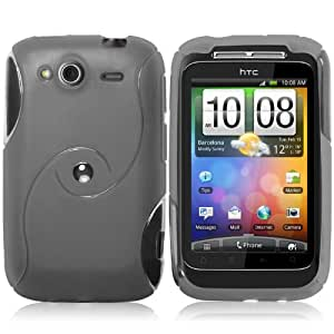 Supergets HTC Wildfire S Black Hydro Gel Case, Screen Protector And Polishing Cloth