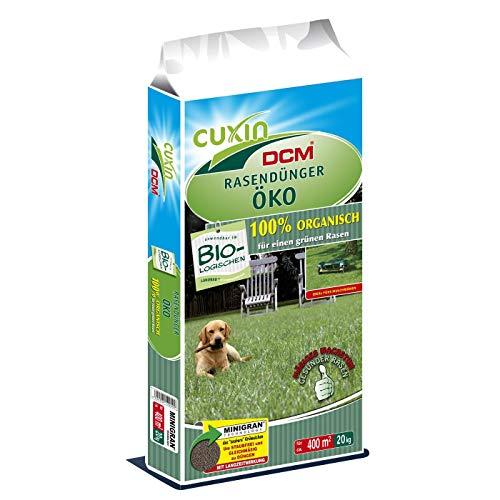 20 kg CUXIN DCM Rasendünger Öko 100% Dünger organisch Frühjahr Sommer biologisch - 20 Bio-dünger 20 20