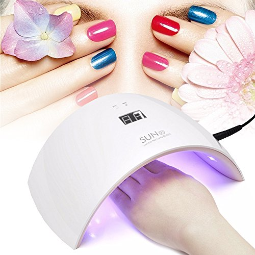 Lampada LED Unghie Fornetto Unghie Nail Dryer 36W 18 UV LED Professionale per Manicure con USB (Bianco) - Duomishu