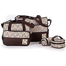 Ceiceili Set 5 kits Bolsa de Mama Para Bebe Biberon Bolso/Bolsa/Bolsillo Maternal