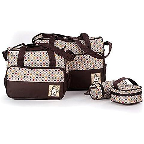 Ceiceili Set 5 kits Bolsa de Mama Para Bebe Biberon Bolso/Bolsa/Bolsillo Maternal Bebé para carro carrito biberón colchoneta comida pañal de color