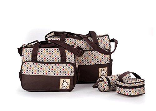 Ceiceili Set 5 kits Bolsa de Mama Para Bebe Biberon Bolso/Bolsa/Bolsillo Maternal Bebé para carro...