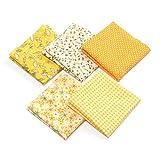 5pcs Baumwolltuch Baumwoll Stoff Quilting Patchwork das 50