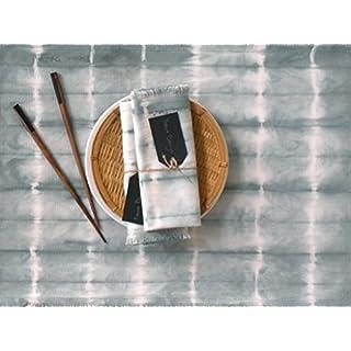 Tischsets,Platzdeckchen perl grau, 6 große tischsets, Küchentextilien handgefertigt von BeccaTextile.