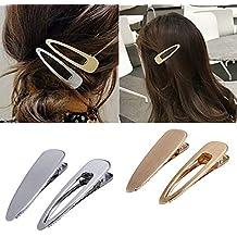 4 piezas de moda simples pinzas para el cabello de metal para mujeres  Elegante Retro Pato 144000727328