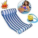 Aolvo Pool Vollieger–Aufblasbarer Stuhl, groß, Bett, Matte Bett Schwimmbad Stuhl, aufblasbar, leicht, kompakt und tragbar Schwimmbad Matte, für Erwachsene und Kinder, 265kg. blau
