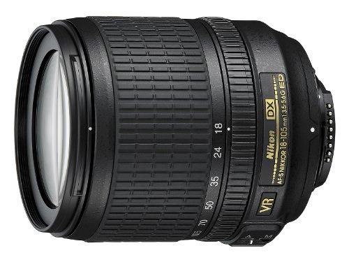 Nikon Nikkor Obiettivo AF-S DX 18-105 mm, f/3.5-5.6G ED VR, Nero [Versione...