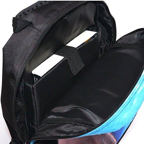 Bopopo Children's 3D Animal Printing School Tasche Laptop Rucksäcke Wandern Tagesrucksäcke Hai Schlechter Hund