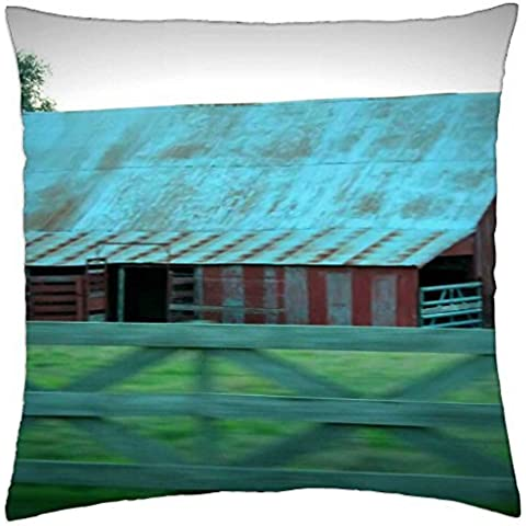 Rusty Old Barn – Throw Pillow Cover Case (45,7 x
