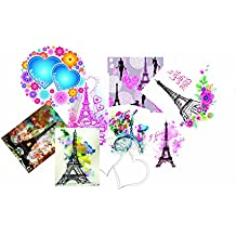 Elton 3M Vinyl Sticker Pack [9-Pcs], Lovely 3M Vinyl Eiffel Tower - 1 Stickers For Laptop, Cars, Motorcycle, PS4. X Box One . Guitar Bicycle, Skateboard, Luggage - Waterproof Random Sticker Pack