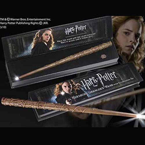 Noble Collection- Réplica Harry Potter Varita Hermione Granger con luz, Multicolor (NOB8028)