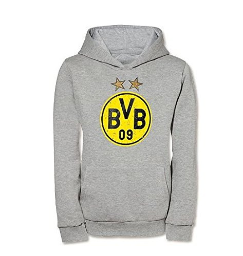 Diseño del Borussia Dortmund KAPUZEN-SWEAT - camiseta para niños (Gris) Talla: 116