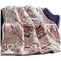 XDFCV Textiles,warmes Innenzubehör Verdicken Sie Raschel Decke Doppelschicht Winterhaar Decke Einzel Doppel Hochzeit Decke Klimaanlage Decke