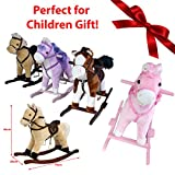 51WZ7pfNU6L. SL160  UK BEST BUY #1JJOnlineStore   FLASH SALES   Rocking Musical Plush Pony Horse Christmas Xmas Birthday Riding Ride On Toy Game Sound Music Tail (Dark Brown & White) price Reviews uk