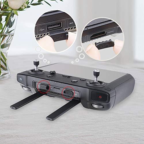 Fcostume USB-HDMI- und Typ-C-Schnittstellen-Staubstecker für DJI Smart Controller Mavic 2 (Schwarz)