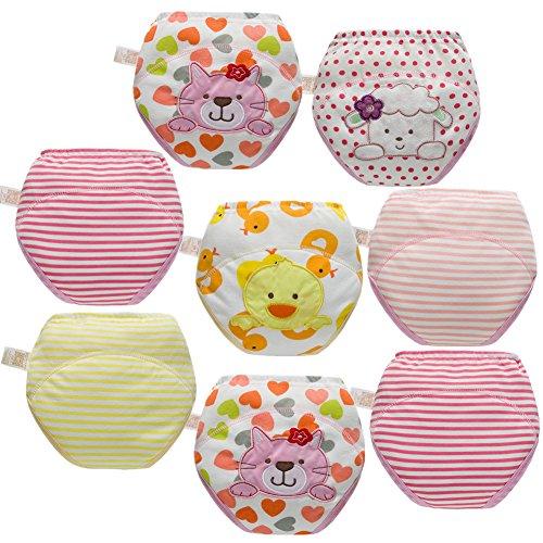 Skhls Unisex Baby Kleinkind Töpfchen Trainer Trainingshose Waschbare Lernwindel (3 Jahre, 8pcs Mädchen)