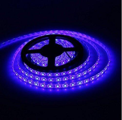 bsod 16.4ft 5050Flexible Tiras LED de 5m 300led SMD 5050Luz de tira impermeable DC 12V Super de iluminación, azul, andere 12.0 volts