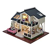 DIY Wooden Dolls House Handcraft Miniature Kit- Provence villa Model & Furniture & Voice controller Music box