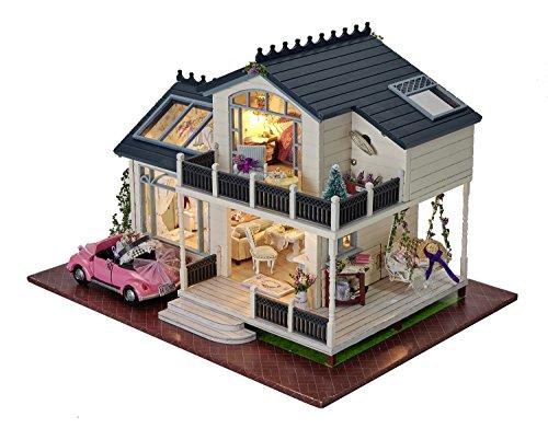 Kit de madera para montaje de casa de muñecas en miniatura