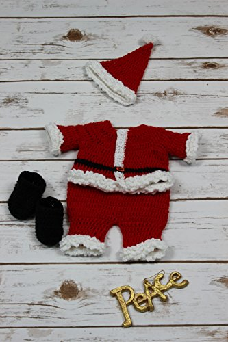 Crochet Pattern - CP269 - Santa Outfit To Fit Length of bear 10½